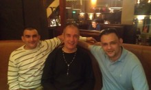 With my brothers... and sober at long last!