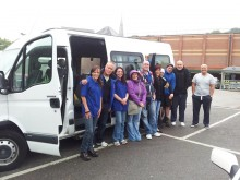 The inaugural 'AGRO Road to Recovery around Wales trip'  about to leave Bangor
