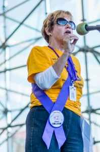 Bev Haberle Speaking at Philadelphia Recovery Walk 2013